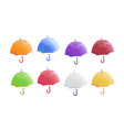 colorful umbrellas set of vector image vector image