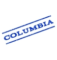 Columbia Watermark Stamp vector image vector image