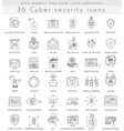 Cyber security technology ultra modern vector image vector image