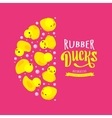 decorating design made of yellow rubber vector image vector image