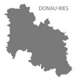 donau-ries grey county map bavaria germany vector image vector image