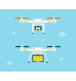 Drone with camera and box Air Photography vector image vector image