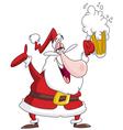 drunk santa claus vector image vector image