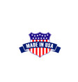 emblem made in usa vector image