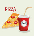 fast food pizza design isolated vector image