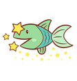 fish character side signs of zodiac isolated