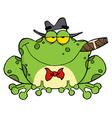 Frog Smoking A Cigar vector image vector image