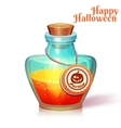 glass flask with poison vector image