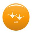 goose step icon orange vector image