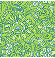 Green abstract seamless pattern with flowers vector image vector image