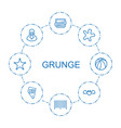 grunge icons vector image vector image
