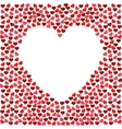 heart love frame various hearts design vector image vector image