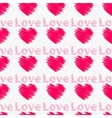 Hearts with the word love Seamless pattern