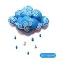 Icon of plasticine cloud vector image vector image