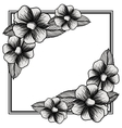 Isolated floral frame design vector image