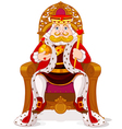 King on the throne vector image vector image