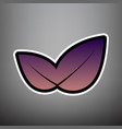 leaf sign violet gradient vector image vector image