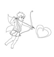 little cupid is ready to shoot love arrow vector image
