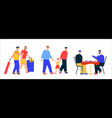 male lgbt couples or family set isolated scenes vector image vector image