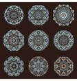 Mandalas collection Hand drawn background vector image vector image