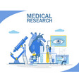 medical research flat style design vector image vector image