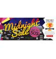 Midnight Sale 1500x600 pixel vector image vector image