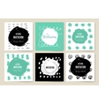 Modern cards design template with grungy rough vector image vector image