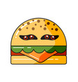 monster burger vector image vector image