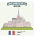 Mont Saint Michel vector image vector image