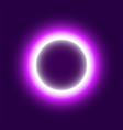 neon abstract round eclipse of the sun vector image