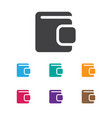 of game symbol on wallet icon vector image vector image