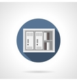 Paper documents locker flat color icon vector image vector image