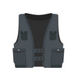 pocket vest icon flat style vector image vector image