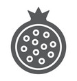 pomegranate glyph icon food and fruit garnet vector image vector image