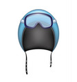 protective helmet and ski sport goggles vector image vector image