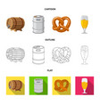 pub and bar symbol set of vector image vector image