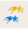realistic design element christmas star vector image vector image
