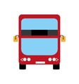 red bus icon United kingdom design vector image