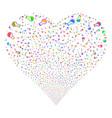 retort fireworks heart vector image vector image