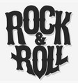 rock lettering poster or t-shirt design vector image
