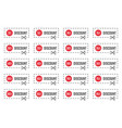sale coupons discount tags and labels set vector image vector image