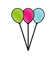 scribble balloons cartoon vector image vector image
