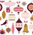 seamless pattern christmas decor can be used vector image vector image