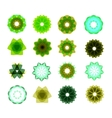 Set of different color blue green circular vector image