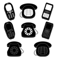 Set of phones silhouette vector image vector image