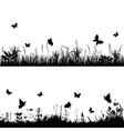 silhouette meadows vector image vector image