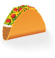 Single mexican Taco vector image