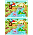 Spot the differences vector image vector image