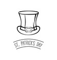 st patrick s day hat vector image