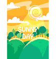 Sunny day landscape A4 proportions vector image